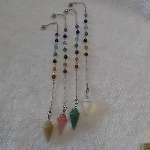 Jewelry - Natural stone chakra pendulum